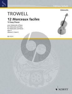 Trowell 12 Morceaux Faciles Op.4 Vol.2 Cello-Piano