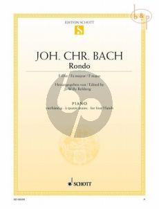 Bach Rondo F-dur Klavier 4 Hd. (ed. Willy Rehberg)