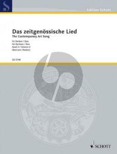 Album Das Zeitgenossische Lied Vol. 4 Bariton (Bass) und Klavier (Herausgegeben von Hermann Reutter)