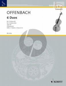 6 Duos Op. 50 Vol. 2 (No. 4 - 6) 2 Violoncellos