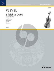 Pleyel 6 Easy Duets Op.8 2 Violins (Dessauer) (Grade 2)