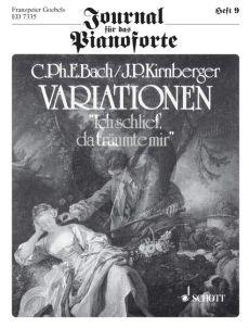 """Bach Variationen """"Ich schlief, da traumte mir"""" Klavier (mit J.P. Kirnberger) (Franzpeter Goebels)"""