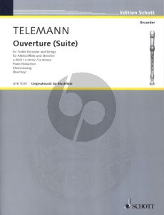 Telemann Suite a-minor TWV 55:a2 Ttreble Recorder-Strings (piano red.) (edited by Edgar Hunt) (Schott)