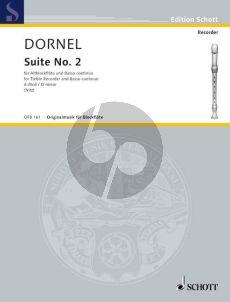 Dornel Suite No.2 d-minor Treble Recorder and Bc (Martin Nitz)