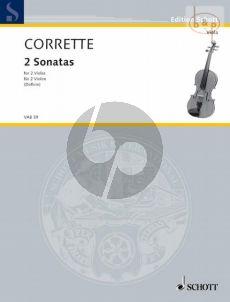 Corrette 2 Sonaten und ein Menuett 2 Violas (Erich Doflein)