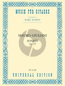 Giuliani Sonata C-major Op.15 Guitar (Karl Scheit)