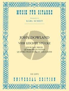 Dowland 4 Leichte Stucke für Gitarre (Karl Scheit)