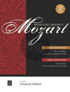 Mozart Don Giovanni (from an edition published around 1809) 2 Violins (or 2 Flutes) (Karl Heinz Fussl)
