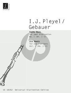 6 Duos Vol.1 (No.1-3) (2 Clar.)