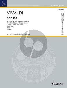 Vivaldi Sonate g-moll RV 458 (Op.13A No.6) Altblockfl.(Flöte/Oboe/Violine)-Bc (Werner Fussan)