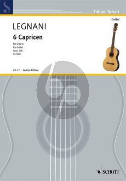 Legnani 6 Leichte Capricen op.250 Gitarre (Walter Götze)