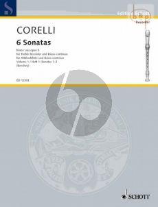 Corelli 6 Sonatas from Op.5 Vol.1 (No.1 - 3) Treble Recorder-Bc (edited by Gwilym Beechey)