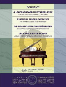 Dohnanyi Essential Finger-Exercises (For Obtaining a Sure Piano Technique)