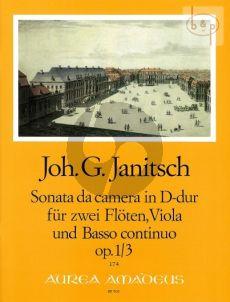 Sonate da Camera D-dur Op.1 No.3 2 Flutes-Viola and Bc
