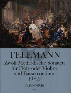 Telemann 12 Methodische Sonaten Vol.4 No.10-12 Violine[Flote] und Bc (nach dem Erstdruck von Winfired Michel und Christine Gevert)