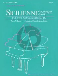 Bach Sicilienne - from Flute Sonata E-flat 2 Piano's 8 hands (transcr. by Mack Wilberg)
