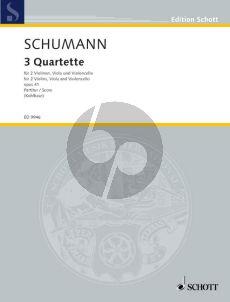 Schumann 3 Quartette Op.41 2 Vi.-Va.-Vc. (Parts) (edited by Hans Kohlhase)