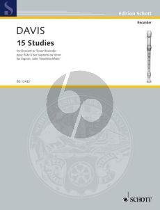 Davies 15 Studies for Descant (or Tenor) Recorder