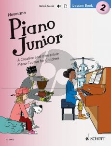 Heumann Piano Junior Lesson Book 2 (Book with Audio online)