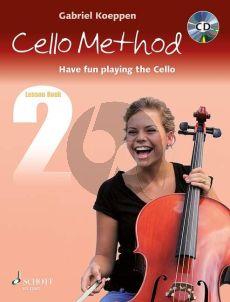 Koeppen Cello Method (Have fun playing the Cello) Lesson Book 2 (Bk-Cd)