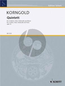 Korngold Quintet Op.15 2 Vi.-Va.-Vc.-Piano (Score/Parts)
