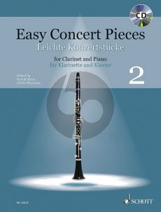 Easy Concert Pieces (22 Pieces from 4 Centuries) Clarinet-Piano (Bk-Cd) (edited by Rudolf Mauz and Ulrike Warnecke)