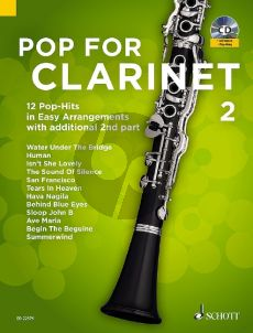 Pop for Clarinet 2 ( 12 Pop-Hits in easy arrangements with additional 2nd part) (Bk-Cd) (arr. Uwe Bye)