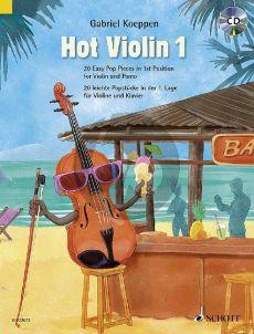 Koeppen Hot Violin 1 (20 Easy Pop Pieces in 1st position) Violin-Piano (Bk-Cd)