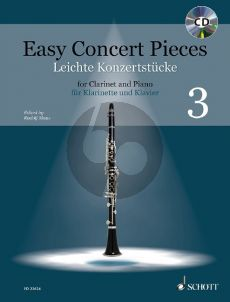 Easy Concert Pieces Vol. 3 (14 Pieces from 4 Centuries) Clarinet and Piano (Bk-Cd) (Rudolf Mauz)