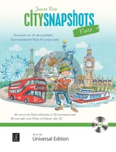 Rae City Snapshots for 1-2 flutes with CD or Piano accompaniment (Bk-Cd)