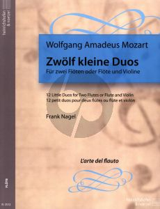 Mozart 12 kleine Duos KV 487 2 Flutes or Flute and Violin (Playing Score) (edited by Frank Nagel)