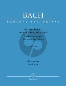 Bach J.S. Kantate BWV 208 Was mir behagt, ist nur die muntre Jagd Vocal Score (Gluckwunschkantate) (German)