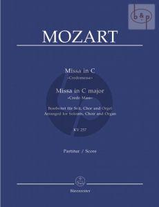 Missa C-major KV 257 (Credomesse) (Soloists-SATB-Organ)