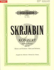 Scriabin Concerto F-sharp minor Op.20 Piano and Orchestra (Edition for 2 Piano's) (edited Gunter Philipp)