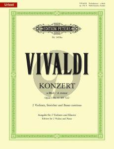 Vivaldi Concerto a-minor RV 522 Op.3 No.8 2 Violins-Piano (edited by Rudolf Eller)