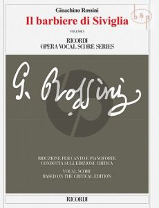 Il Barbiere di Siviglia (Vocal Score) (2 vols) (It.) (Edited by Alberto Zedda)
