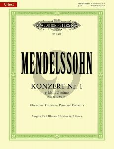Mendelssohn Concerto No. 1 G-major Op. 25 Piano and Orchestra (red. for 2 Piano's) (edited by Klaus Burmeister)