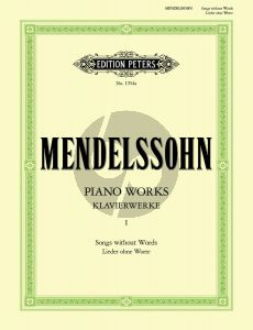Mendelssohn Lieder ohne Worte Klavier (Theodor Kullak)