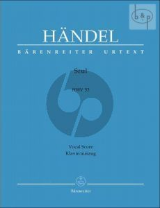Saul HWV 53 (SSATB soli-SATB-Orch.) (Vocal Score) (edited by Percy M.Young)