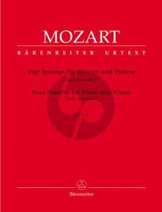 Mozart Jugendsonaten Vol.1 (KV 6-9) Violine-Klavier (Eduard Reeser) (Barenreiter-Urtext)