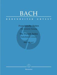 Bach Franzosische Suiten BWV 812 - 817 Klavier (verzierte Fassung) (Alfred Dürr) (Barenreiter-Urtext)