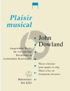 Dowland Ausgewahlte Werke 4-5 Blockflöten (wechselnden Besetzungen) (Larry Bernstein)