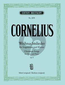 Cornelius Weihnachtslieder Op.8 (Mittel/Original) (Deutsch/English)
