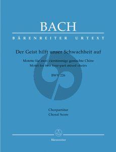 Bach Geist hilft unsere Schwachheit auf (BWV 226) (SATB-SATB) (Choralscore)