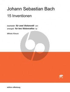 Bach 15 Inventionen 2 Violoncellos (transcr. Mihoko Kimura)