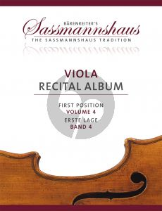 Viola Recital Album Vol.4 5 Recital Pieces in First Position for Viola and Piano or Two Violas (Christoph Sassmannshaus - Melissa Lusk)
