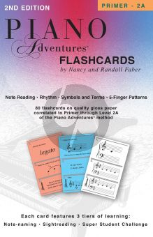 Faber Piano Adventures Flashcards In-a-Box for Primer - 2 A