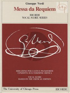 Messa da Requiem Soli-Choir-Orchestra Vocal Score
