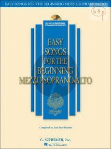 Easy Songs for the Beginning Mezzo-Soprano/Alto Singers