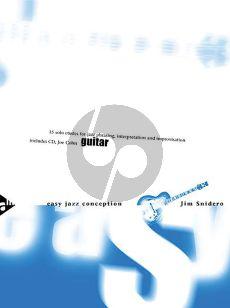 Snidero Easy Jazz Conception Guitar (Bk-Cd) (15 Solo Etudes for Jazz Phrasing, Interpretation, Improvisation)